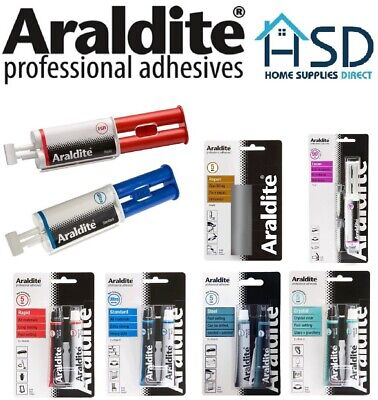 Araldite Adhesive Glue Standard Rapid Fusion Steel Instant Repair Strong Epoxy