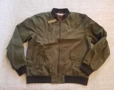 5723af8b6 New Men s Wallace   Barnes J Crew Garment Dyed Cotton Ma-1 Bomber Jacket  Olive