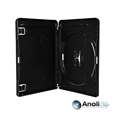 50 Amaray Hüllen 135x170x15 mm Schwarz 4K ULTRA HD-Logo 1 BluRay,PS3 Disc Hülle