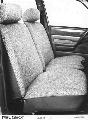 1980 Peugeot 104 SR Rear Interior Seats ORIGINAL Factory Photo oua1816