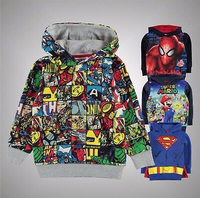 Kids Boys Branded Character Stylish All Over Print Lightweight OTH Hood Top