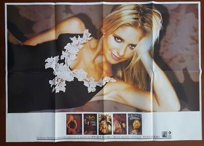 SEXY Sarah Michelle Gellar * BUFFY the VAMPIRE SLAYER books Promo POSTER + ANGEL