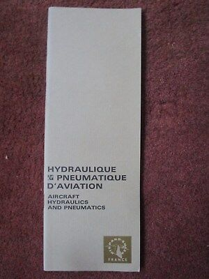 1967 Plaquette Hispano-Suiza Hydraulique Pneumatique Aviation Aircraft Hydraulic