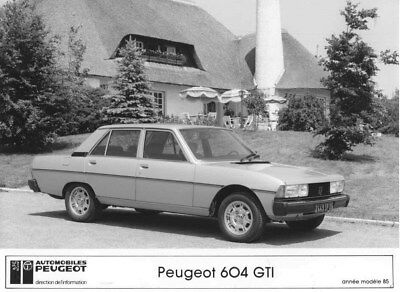1985 Peugeot 604 GTI ORIGINAL Factory Photo oua1922