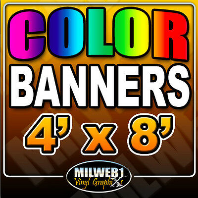 "4'x 8' Custom Vinyl Banner, 13oz FULL COLOR (48""x96"")"