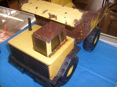 Vintage '70s ? Large  Tonka Mighty Dump Truck Pressed Steel Toy    / g1