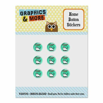Nine Lives Cat Pixel Retro Game Home Button Stickers Fit Apple iPhone