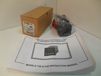NIB Red Lion T4820000 1/16 Din Temperature Control Units  w/ Logic Output