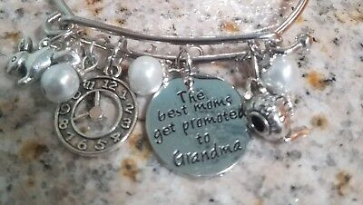 Alice In Wonderland Inspired Baby Shower Bracelet Gift For New Grandma To Be