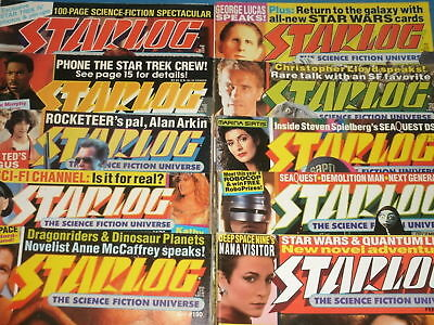 STARLOG & Sci-Fi Magazines: Star Trek, X-Files, Jurassic Park, Movies & TV