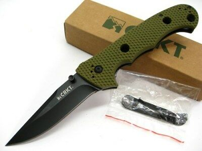COLUMBIA RIVER CRKT OD Green Hammond CRUISER Black Folding Pocket Knife! 7904DKG