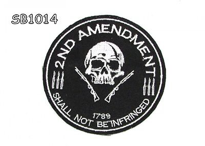 2ND AMENDMENT 1789 Iron on Small Patch for Motorcycle Biker Vest SB1014
