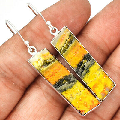 Indonesian Bumble Bee 925 Sterling Silver Earrings Jewelry ECPE700