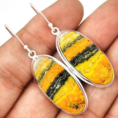 Indonesian Bumble Bee 925 Sterling Silver Earrings Jewelry ECPE706