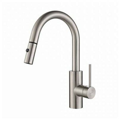 Kraus Oletto Single Handle Pull-Down Spray Head Kitchen Faucet, Stainless (Used)