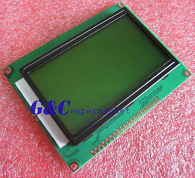 5pcs 5V ST7920  128x64 Dots Graphic LCD Yellow green Backlight for EasyPIC5 top