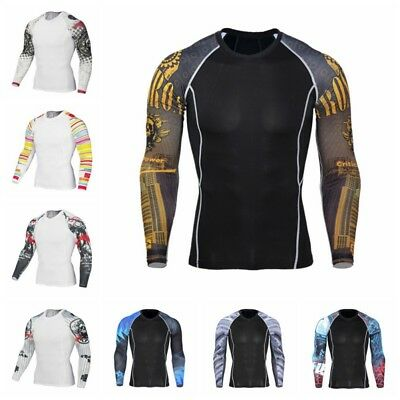 Men Winter Fleece Sweat Compression Thermal Quick Dry Sport Long Johns Gym USA