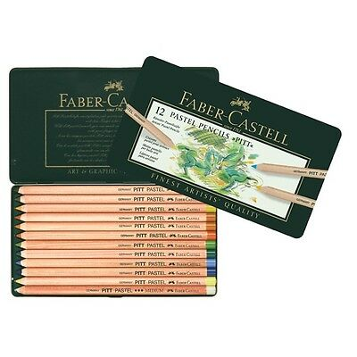 Faber-Castell - Pitt Pastel Colour Pencils - Tin of 12