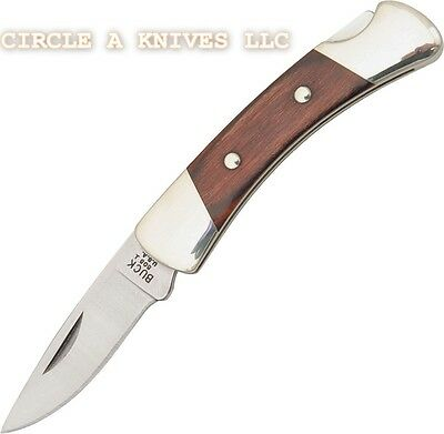 """BUCK KNIFE - KNIGHT LOCKBACK - Rosewood handles- 2 3/4"""" closed - MADE IN THE USA"""