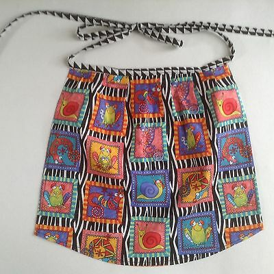 Toddler/Girl Apron Approx 2-5 years gathered waist. Cute Colourful Present Gift