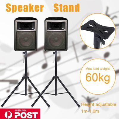 2X PA Speaker Stand Tripod Mount Adjustable Height Studio Floor Home Stage B7