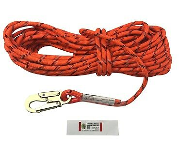 LINQ 12mm Kernmantle Rope Safety Line with Snap Hook ISGM