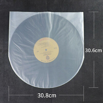 50pcs Clear Plastic 12'' LP LD Inner Sleeves Cover Vinyl Record 30.8X30.6cm AU