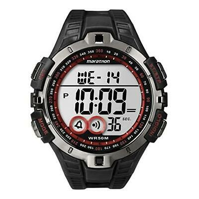 Timex Mens Marathon Digital Black and Red Watch T5K423