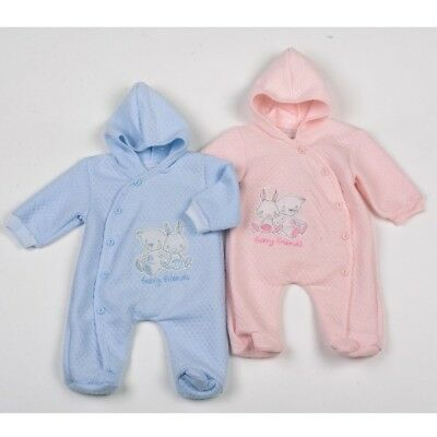 Baby Clothes sleepsuit all in one Boy Girl pink blue Newborn 0-3 m -6 months