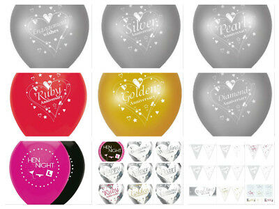 Helium Quality Latex Balloons Silver Pearl Ruby Golden Diamond Anniversary Party