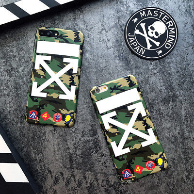 Off White Camo Army Mastermind Case Cover For Iphone X 6s 7