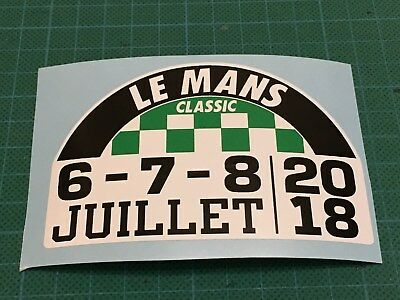 LEMANS LE MANS CLASSIC 2018 DECAL STICKER ~ extra small
