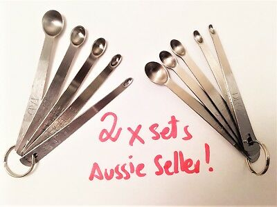 MINI MEASURING SPOONS x 2 sets - FREE Freight - Aussie seller - fast postage!