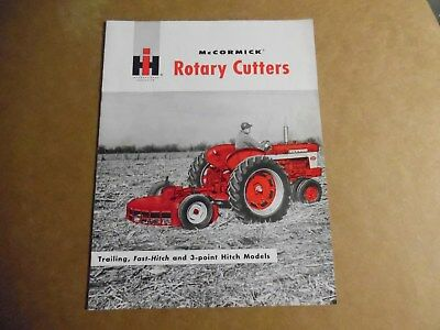 McCormick Rotary Cutter Brochure Farmall IH 340 Tractor International Harvester