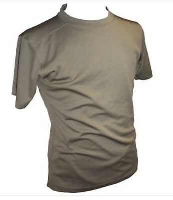 Genuine British Army Self Wicking Combat T-Shirt Anti-Static Light Olive