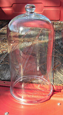 HUGE! Victorian Cloche Dome Bell Jar THICK Glass Vacuum Apothecary Display 17""