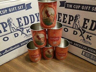 Deep Eddy Vodka Tin Cups set of 6 Ruby Red Grapefruit