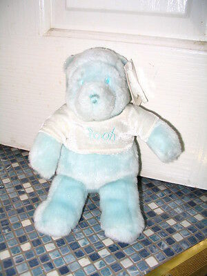 Disney Store Sparkly Blue Pink Or White Pooh Beanbag Brand New Very Rare