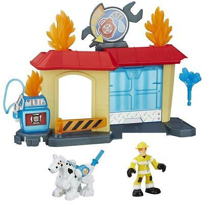 NEW Playskool Heroes Transformers Rock Garage Rescue Bots Fireman Fireplug