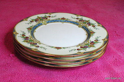 "{SET OF 4} Minton (H3950) 7 3/4"" SALAD PLATES EUC (3 sets avail)"