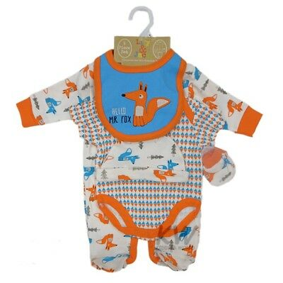 Baby Boy Clothes 5 Piece Gift set layette Lily and Jack Newborn 0-3 months 3-6 m