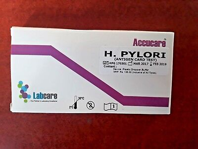 Helicobacter H Pylori Stomach Ulcer Test Kit Result In