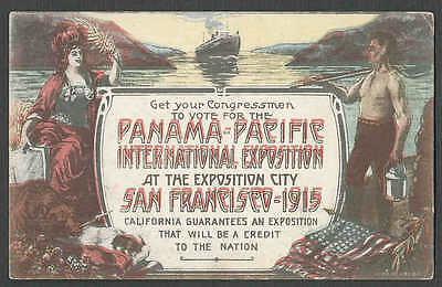 1915* Vintage San Francisco Ppie Poster On Post Card Mint