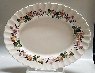 "Myott Staffordshire England Old Chelsea Platter - Hedgerow - 12 1/4"" By 9 3/4"""