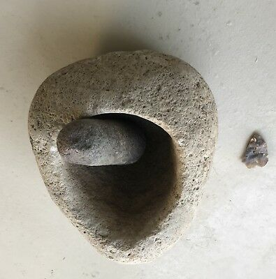 Authentic Native American Mortar & Pestle ~ Chumash Indians ~ San Luis Obispo Ca