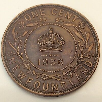 1936 Canada Newfoundland Penny One 1 Cent Circulated Canadian Coin D621