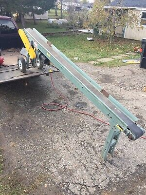 "Adjustable Speed Conveyor W Reverse 10ft X 6"" Trough Conveyor"