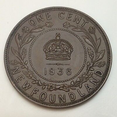 1936 Canada Newfoundland Penny One 1 Cent Circulated Canadian Coin D629