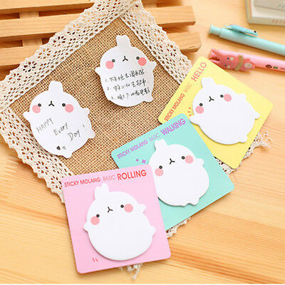 Cartoon Animal Molang Rabbit Flower Friut Sticky Memo Pad Note Book Bookmark HOT