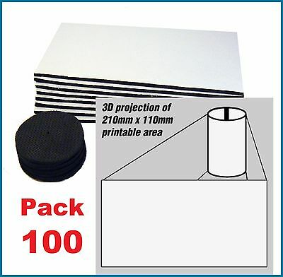 100 x BLANK STUBBY HOLDER panels and bases FOR sublimation printing